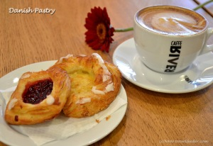 Danish coffee and pastries.