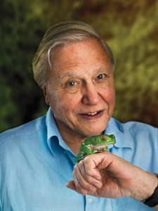 David Attenborough and friend.