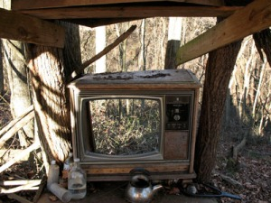 """Television after the Collapse""  photo by Robbt/Flickr/cc"