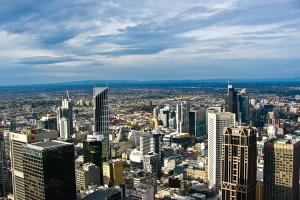 Melbourne city sprawl.