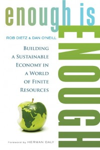 The book contains an actual blueprint of policies that could create a sustainable economy.