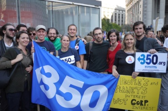 Climate activists with 350.org