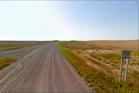 The U.S.-Canada border.