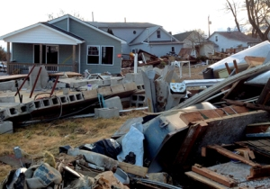 Wreckage from Hurricane Sandy. Photo by Spleeness/Flickr/cc