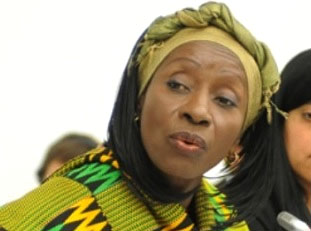 Madam Sherry Ayitey, Minister of Health for Ghana.