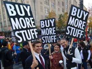 A Black Friday commentary event in Portland, Oregon. Photo by Michael Holdne.
